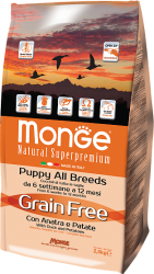 Monge Dog Grain Free All Breeds Puppy Anatra