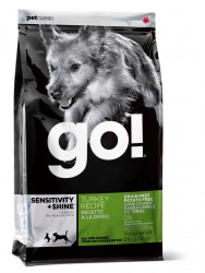 GO! Sensitivity + Shine Turkey Dog Recipe, Grain Free, Potato Free 30/16
