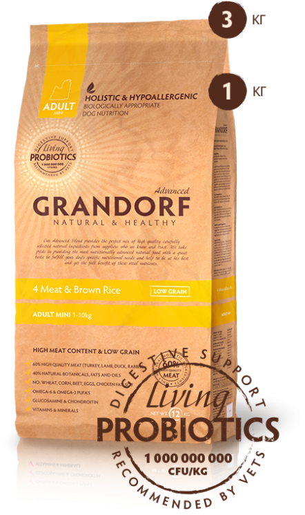 Grandorf Adult Mini 4 Meat & Brown Rice