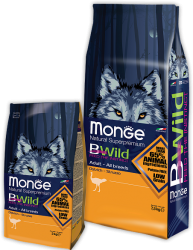 Monge Dog BWild Adult Ostrich