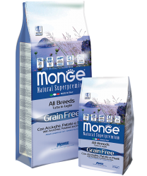 Monge Dog Grain Free All Breeds Adult Acciughe