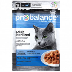 ProBalance Adult Cat Sterilised (пауч)